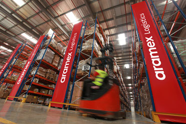 Aramex warehouse  -  company courtesy