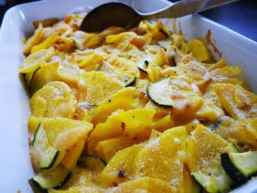 Erdäpfel-Zucchinigratin