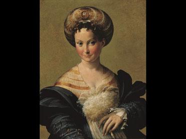"""Parmigianino (Francesco Mazzola, detto il)  Ritratto di giovane donna detta """"Schiava turca"""" Olio su tavola Parma, Galleria Nazionale"""