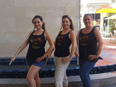 Phoenix Cane Dancers Adrienne, Mahin, and Melisula