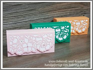 Stampin'Up Verpackung Taschentuch, Schachtel, Box, Florale Fantasie