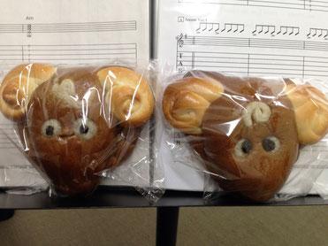 てづくり干支パンを生徒さんに頂いた