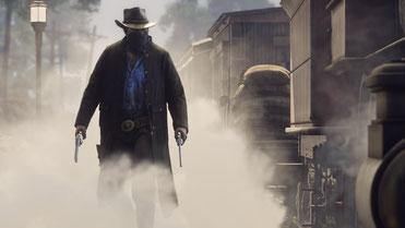 In Red Dead Redemption 2 zieht ihr mit Arthur Morgan in der offenen Spielwelt los, um im Wilden Westen für Recht und Ordnung zu sorgen. Bilderquelle: Take Two