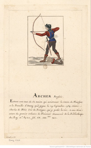 Archer Anglais XV-Source Gallica- BNF