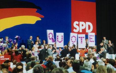 bild: Foto: SPD Bundesparteitag 1988 in Münster, Quote, Quotenparteitag, Lissy Gröner,