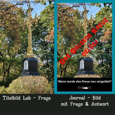 Titelbild und Lösungsbild eines Labcaches