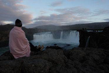 Sonnenuntergang am Goðafoss