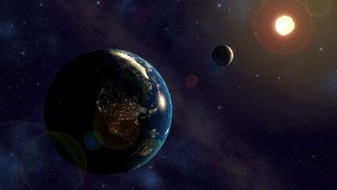 Planeten Erde Mond Sonne