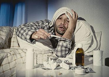 kranker Patient braucht Stärkung des Immunsystems in Heilpraxis Voglreiter Bad Reichenhall