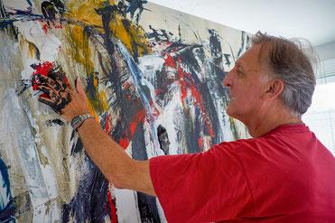 Berliner Künstler in seinem Atelier - H. Schaefer-Pastor