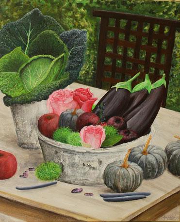 """Herbstfarben mal anders"" 50 x 60 cm Acryl auf Leinwand"