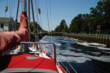 South Mill Schleuse vorm Dismal Swamp Kanal