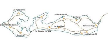 carte simplifiée de l'ile de ré