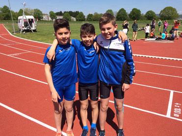 ...holten sich den Kreismeistertitel... Nico, Christian und Finn- unsere schnellen Jungs :-)