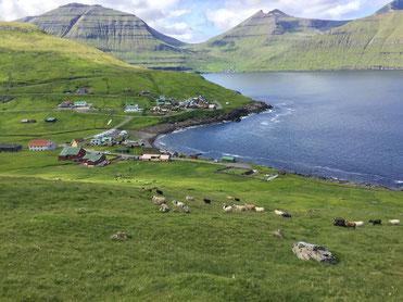 Elduvík aus der Ferne
