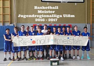 Mannschaftsfoto der U18m des Brander TV Aachen