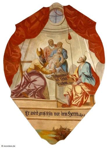 """Gemälde """"Johannes ist sein Name"""", Seßlach"""