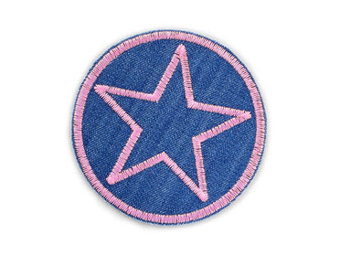 Bild: Jeansflicken Hosenflicken Stern rosa