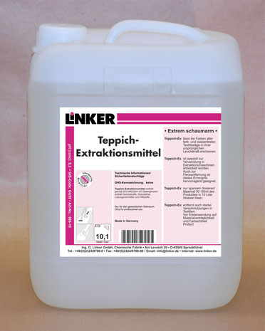 Teppich Extraktionsmittel, Linker Chemie