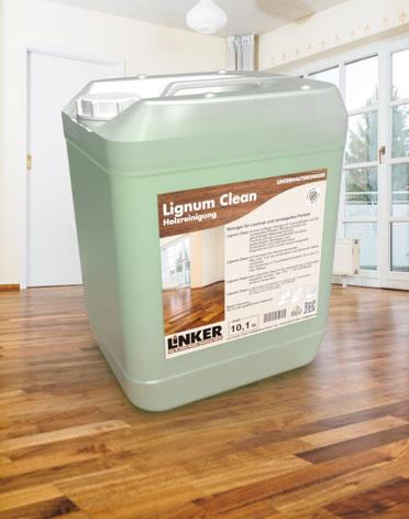 Lignum Clean_Linker Chemie-Group, Reinigungschemie, Reinigungsmittel, Holzwischpflege, Holzreiniger, Reiniger, Holz, Lignum, Pakettreiniger