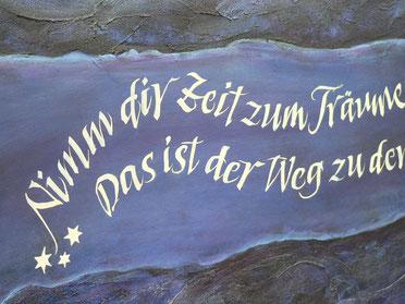 Kalligrafie, Acrylbild, Sigrid Bengel