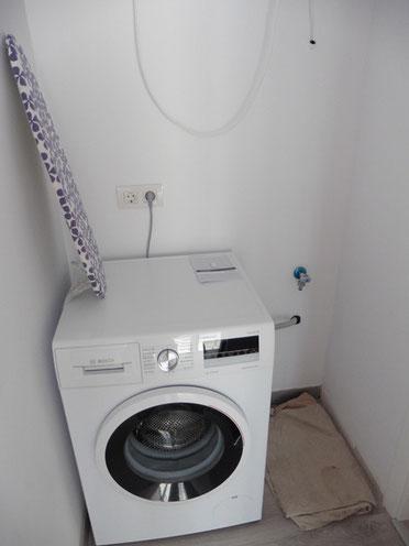 Stellplatz für die Waschmaschine