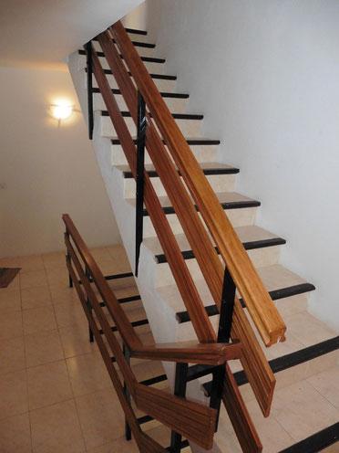 Treppenaufgang zum 2. Apartment