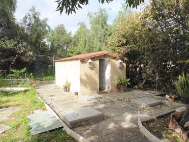 Gartenhäuschen mit Bad
