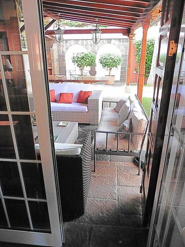 Terrassentür vom Wohnzimmer