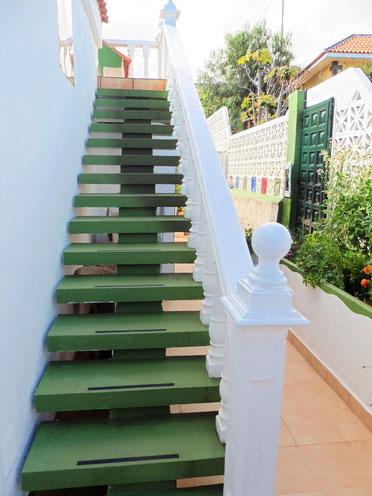 Treppenaufgang zum Atelier