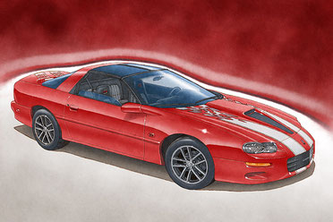 2002 Camaro SS limited edition print