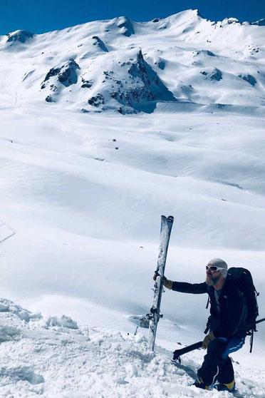 Haute Route - Blick vom Pas du Chèvre über den Cheilon Gletscher