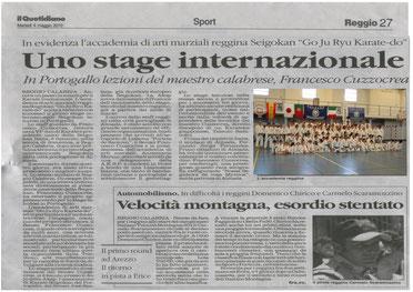 Articolo apparso su  Il Quotidiano della Calabria  il 04.05.2010