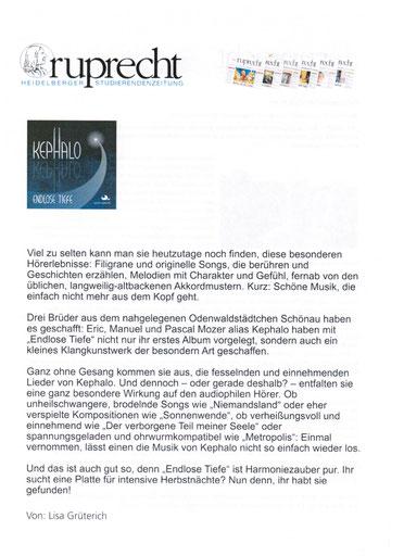 Kephalo, Instrumentalmusik, Gitarren, Brüder