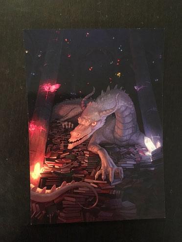 Postkarte von Lew Bridcoe Zeitwolf