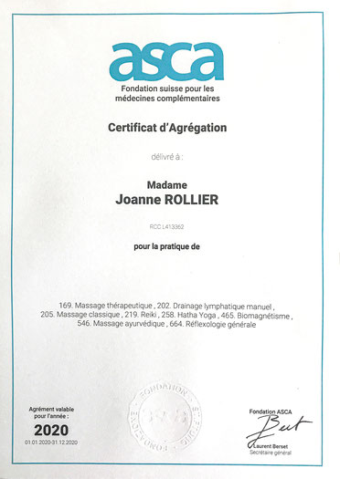 ASCA accreditation - massage therapy reimbursed by health insurance