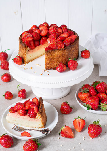 cake, cheesecake, vegan cheesecake, vegan, Käsekuchen, veganer Käsekuchen, Erdbeerkuchen, Strawberrycheesecake, Erdbeeren, strawberries, strawberry cheesecake