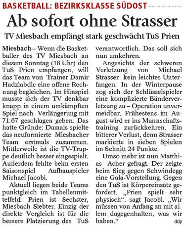 Artikel im Miesbacher Merkur am 14.1.2017 - Zum Vergrößern klicken