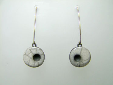 bijou artisanal boucles d'oreilles en céramique raku
