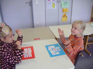 Übungen zum Silbenklatschen in Partnerarbeit