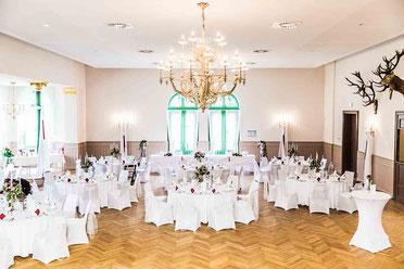 Saal der Hochzeitslocation Schützenhaus Grabow in der Nähe von Ludwigslust