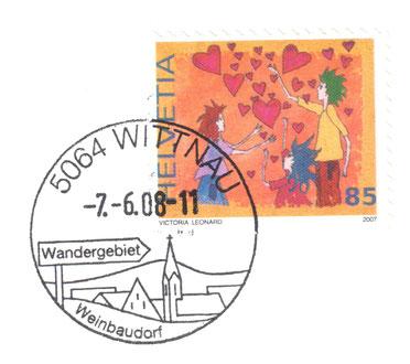 Zum letzten Mal in Gebrauch: der Wittnauer Werbestempel