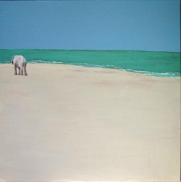 allein, aber nicht einsam, Acryl, 80x80cm, verkauft
