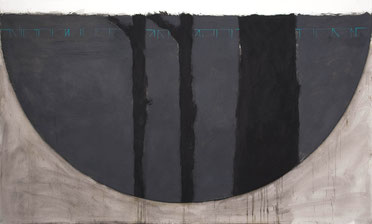 Studie Waldmutter 3 (197) 1994 Ölfarbe 150,5 x 251,3 cm