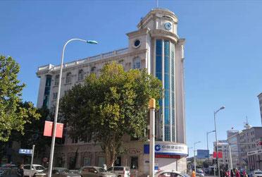 中国留学 大連外国語大学付近 中国建設銀行店舗