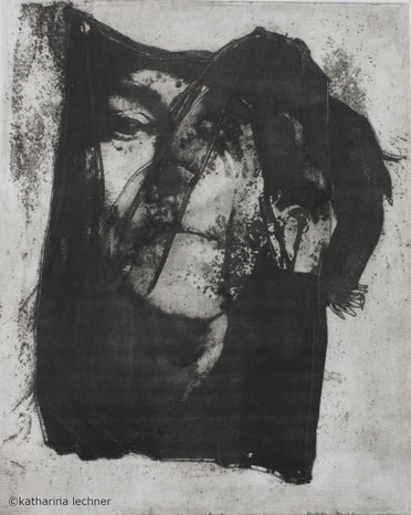 Ohne Titel  Intagliotypie, 41cm x 28,5cm (Plattenformat), 2018, Portrait