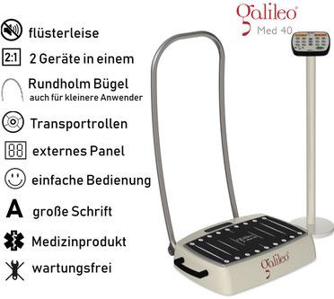 Vibrationsplatte Galileo Med 40, Vibrationstrainer, Galileo Training, gebraucht, kaufen, Preise, Preis, Test, Vertrieb: www.kaiserpower.com