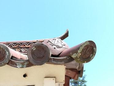 閑谷神社 中門の鬼瓦?