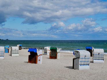 Strandkörbe in Hohwacht