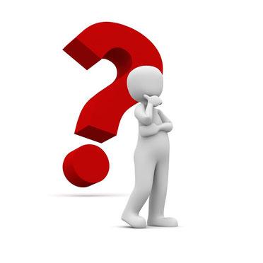 Formulierungshilfen, Fragezeichen